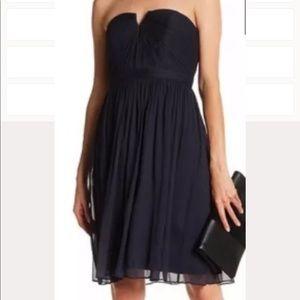 J Crew Nadia Silk Chiffon Dress Sz 2